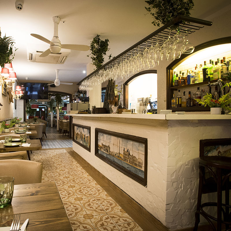 Restaurante en el centro de Barcelona